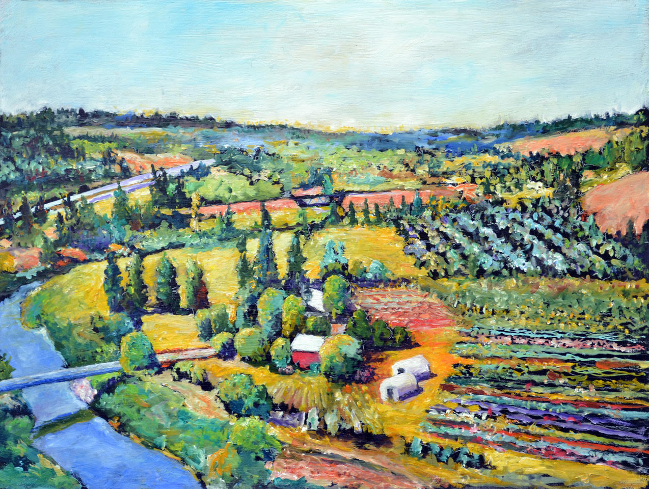 'Dream Farm' painting by LR Montgomery