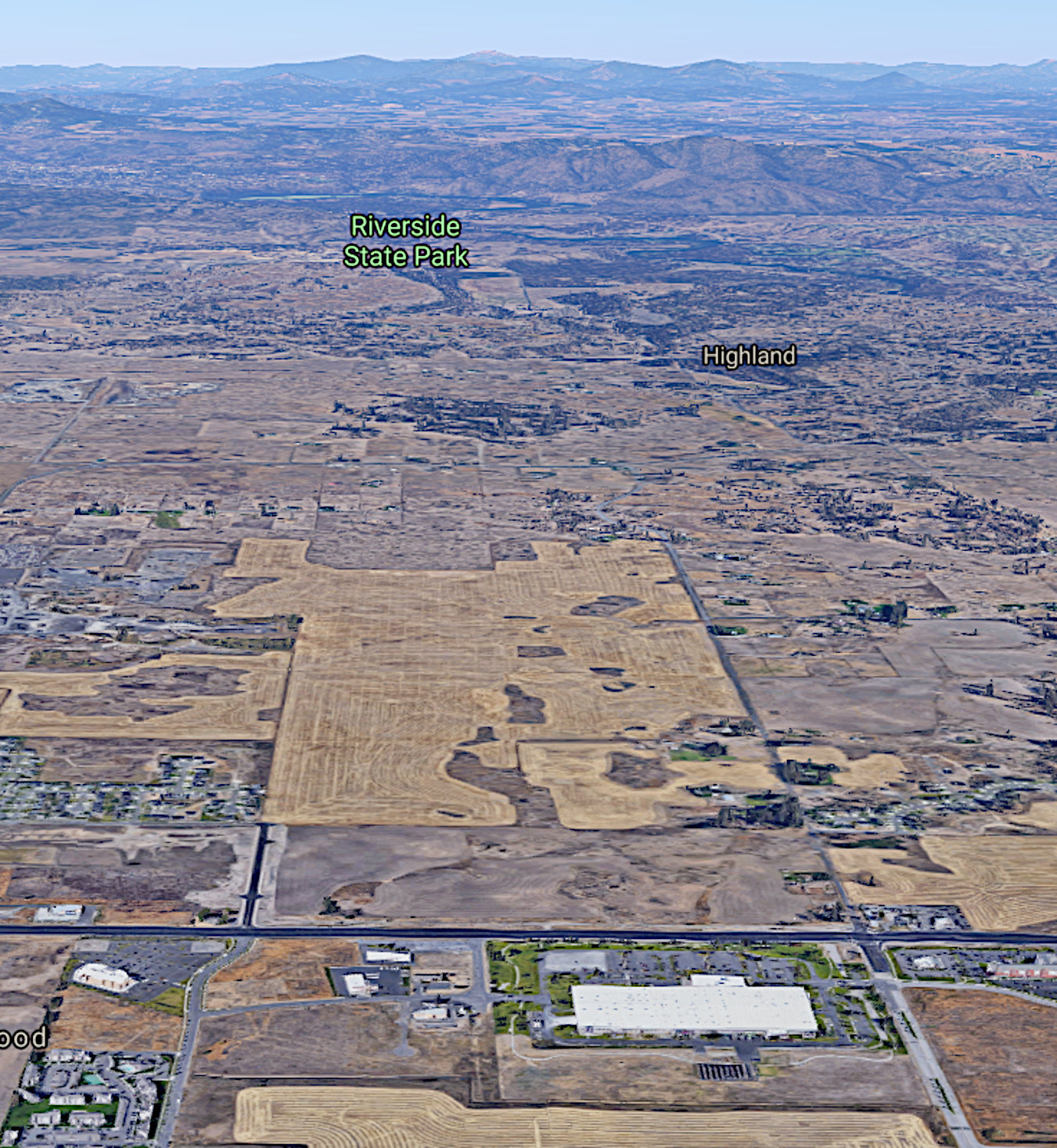 Aerial photo of Prime Agricultural Soils threatened with development.